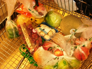 Produce in my Grocery Cart!