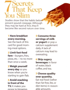 7 Secrets That Keep You Slim