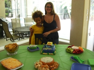 My daughter, myself & the Birthday Party spread!!!