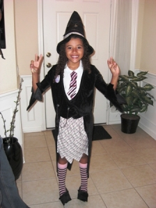 Halloween 2009 (Jai Lei in her Harry Pottery Witch Costume)1