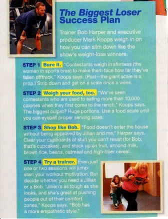 The Biggest Loser Success Plan (TUESDAY)