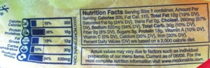 Wednesday 11.4.09 - Breakfast (Nutrition Facts)
